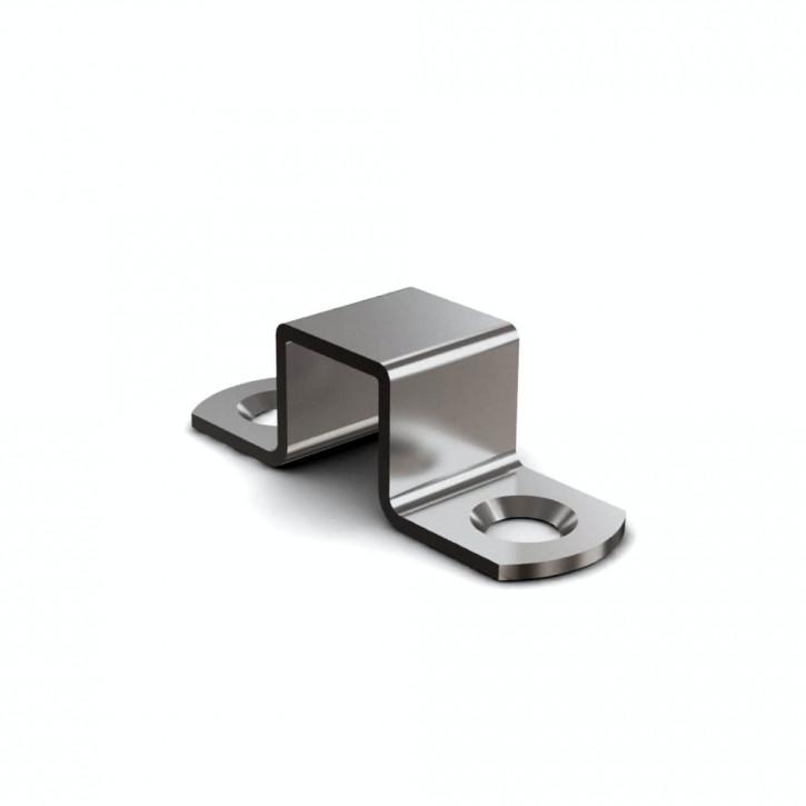 Schliessblech A=50mm für Riegel mit Rückstellfeder; Messing