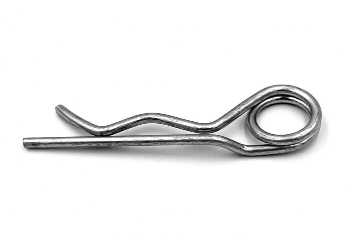 Federstecker 2 mm doppelt; Stahl verzinkt