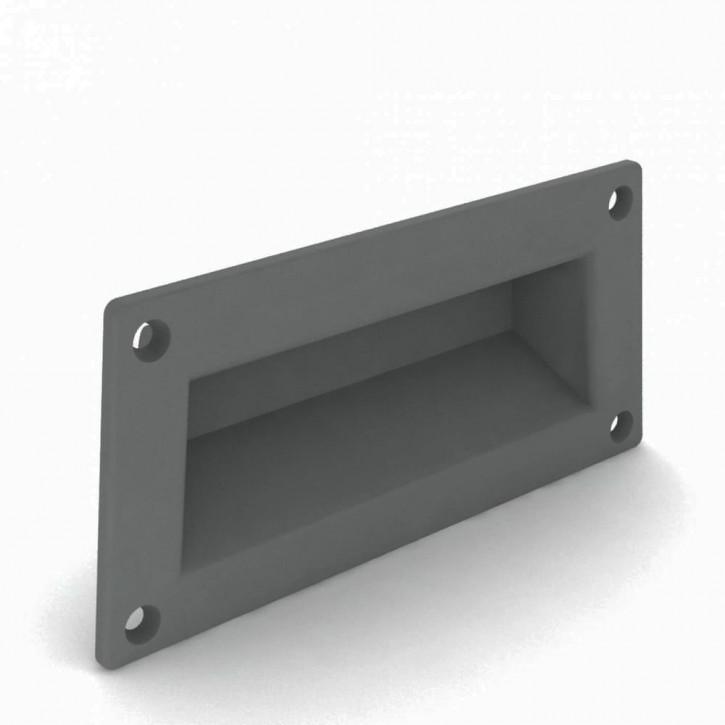 Versenkbarer Griff zum Verschrauben 101 x 52 mm; ABS grau