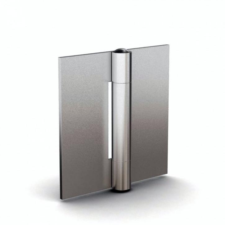 Quadratisches Scharnier, 100x100x2.5mm, ungebohrt; Edelstahl
