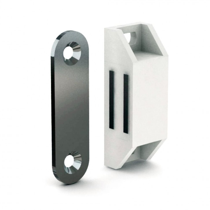 Verschraubbarer Magnetverschluss mit Schliessblech, Kraft 2-3kg