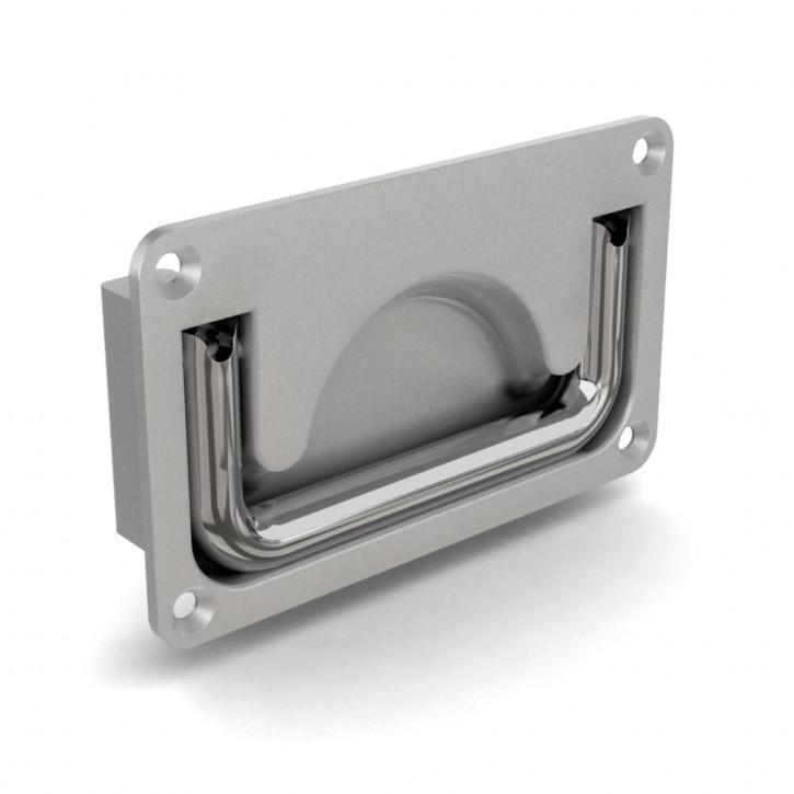 Versenkter Griff zum Verschrauben 105 x 63.5 mm; Aluminium