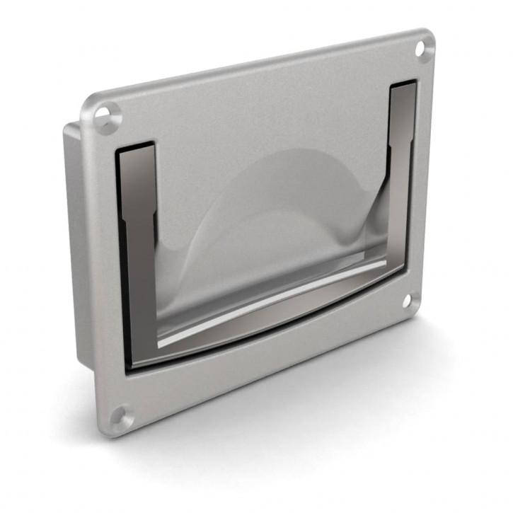 Versenkter Griff zum Verschrauben 120 x 91 mm; Aluminium