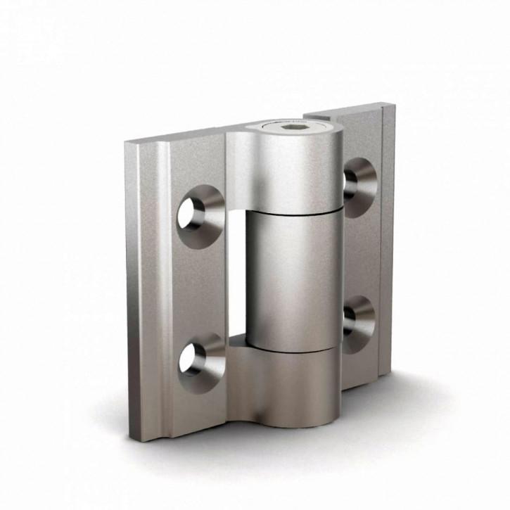 Kleines Drehmomentscharnier, 30x35x3mm;Aluminium schwarz eloxiert