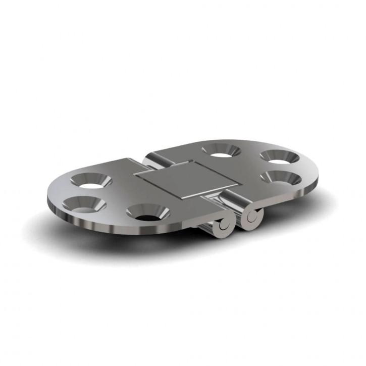 Scharnier für Bootindustrie 71.1 x 38.1mm; Edelstahl (1.4401)