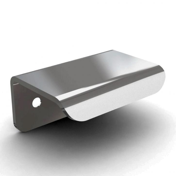 Ziehgriff mit vorderseitiger Befestigung 50mm; Stahl verchromt