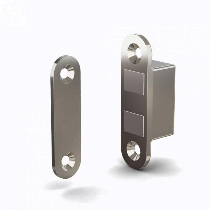 Versenkbarer Magnetverschluss mit Schliessblech, Kraft 4kg; Zamak