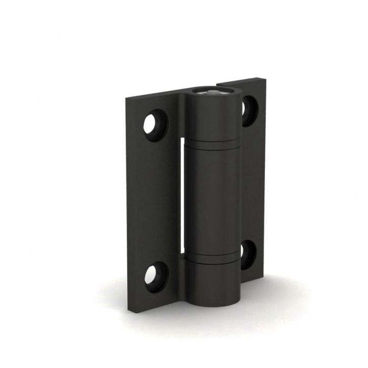 Rastscharnier 5.0 N.m, 67x55x4.5mm; Alu 6060 T5 schwarz eloxiert