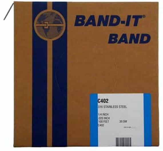 316 BAND-IT® Edelstahlband 9.6 x 0.64 mm; Edelstahl V4A