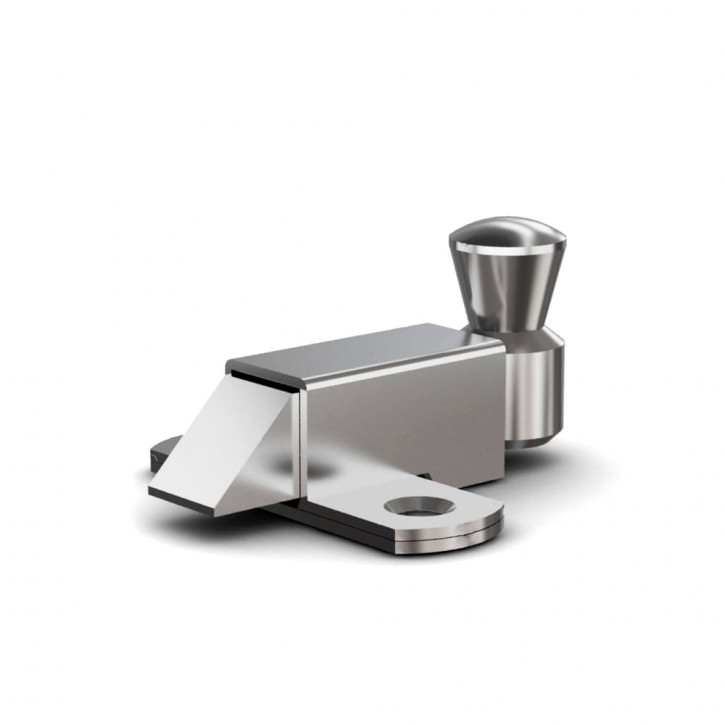Riegel nach unten mit Rückstellfeder A=70mm; Stahl verzinkt
