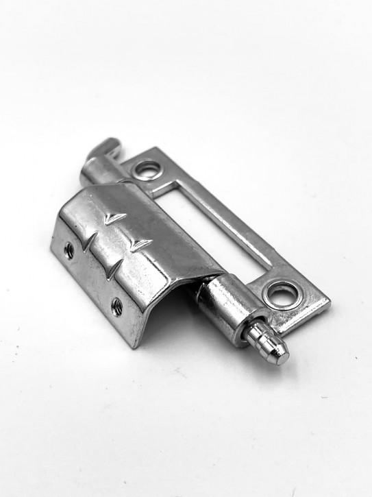 120° Scharnier anschraubbar, 20mm Abkantung; Stahl verzinkt