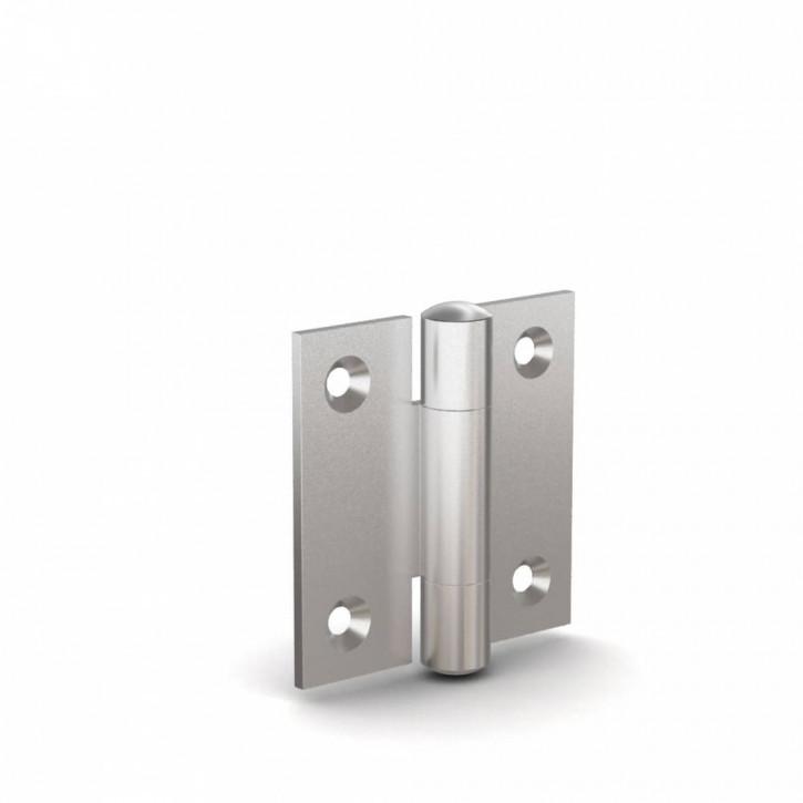 Quadratisches Scharnier, 60x60x2mm, gebohrt; Edelstahl (1.4401)