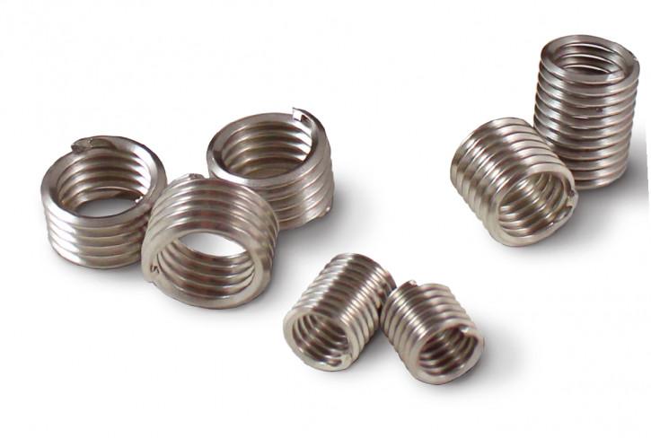 100 Stück Zapfenlose Drahtgewindeeinsätze M5-0.8X1D