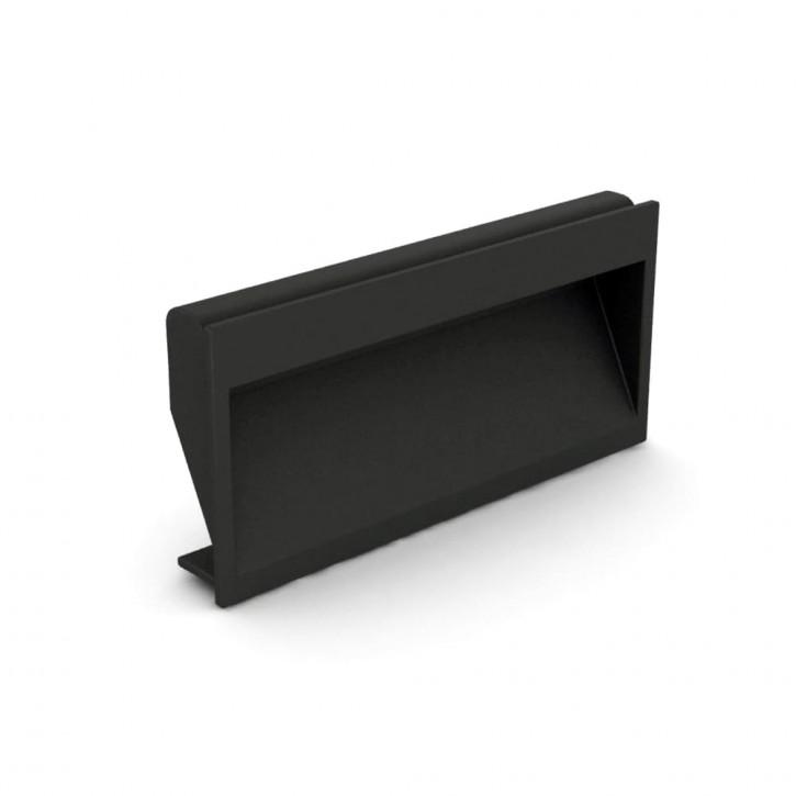 Versenkbarer Griff mit Clips 110 x 56.3 mm, zum Festklemmen; ABS