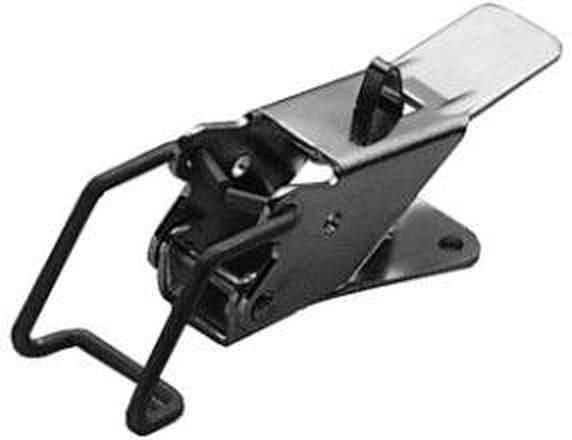 Spannverschluss, gebohrt, mit Federsicherung 90°; Stahl verzinkt