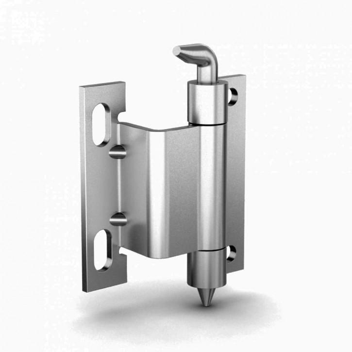 Scharnier, unsichtbaren Anschlag, Öffnungswinkel 120°A; Stahl