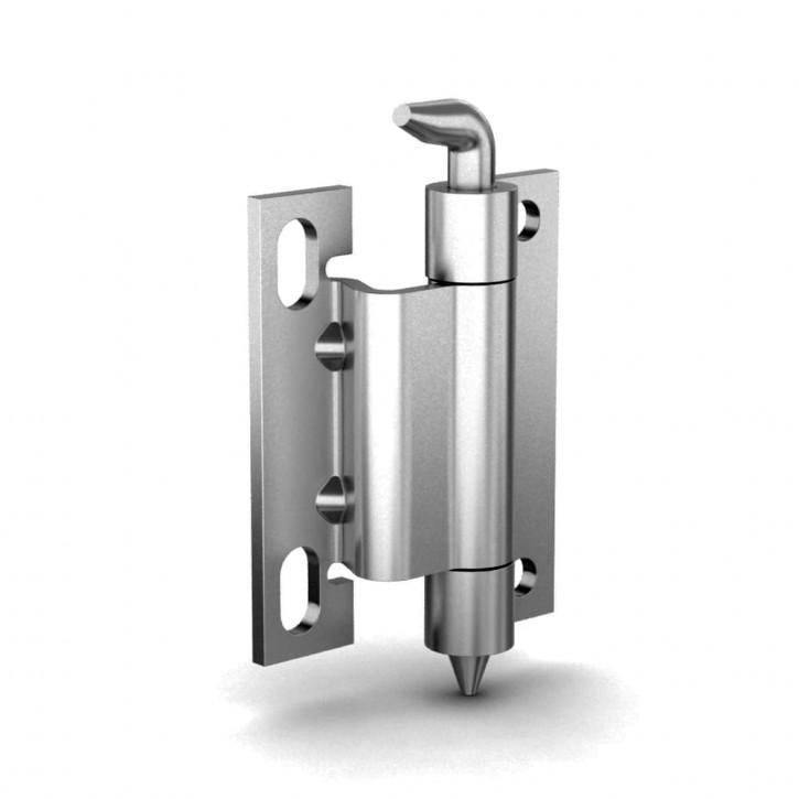 Scharnier, unsichtbaren Anschlag, Öffnungswinkel 120°B; Stahl