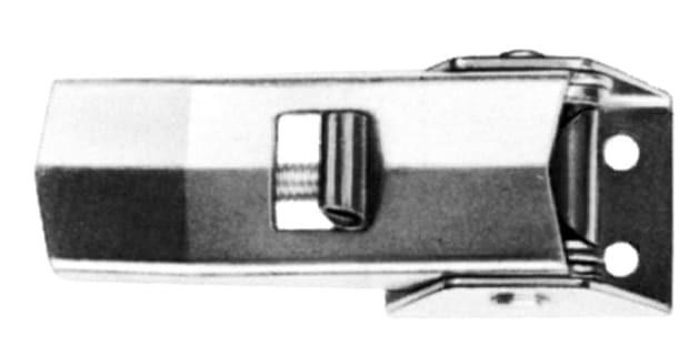 Spannverschluss, Loch Ø 4.2mm, Sicherung und hoher Basis; Stahl