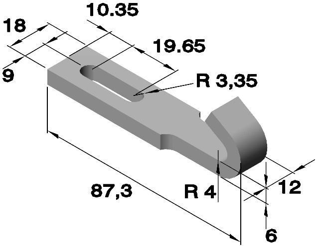 Gegenhaken mit Schlitz; Stahl verzinkt