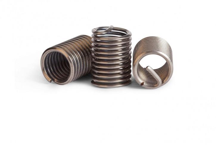 100 Stück Gewindeeinsätze UNC 5/16-18X1.5D Nitronic