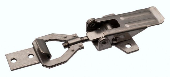 Spannverschluss einstellbar, gebohrt; Stahl vernickelt