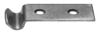 Gegenhaken gebohrt und gesenkt, gekröpfter Haken; Stahl verzinkt