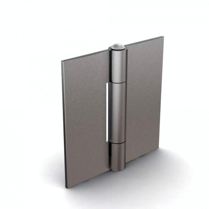 Quadratisches Scharnier, 40x40x2mm, ungebohrt; Stahl unbehandelt