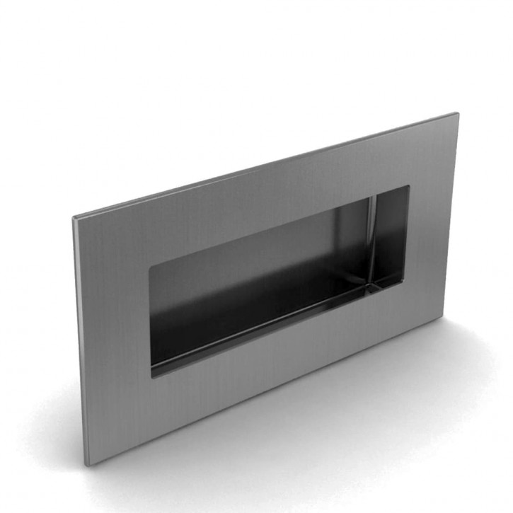 Versenkbarer Griff zum Verschrauben 120 x 60 mm; Edelstahl