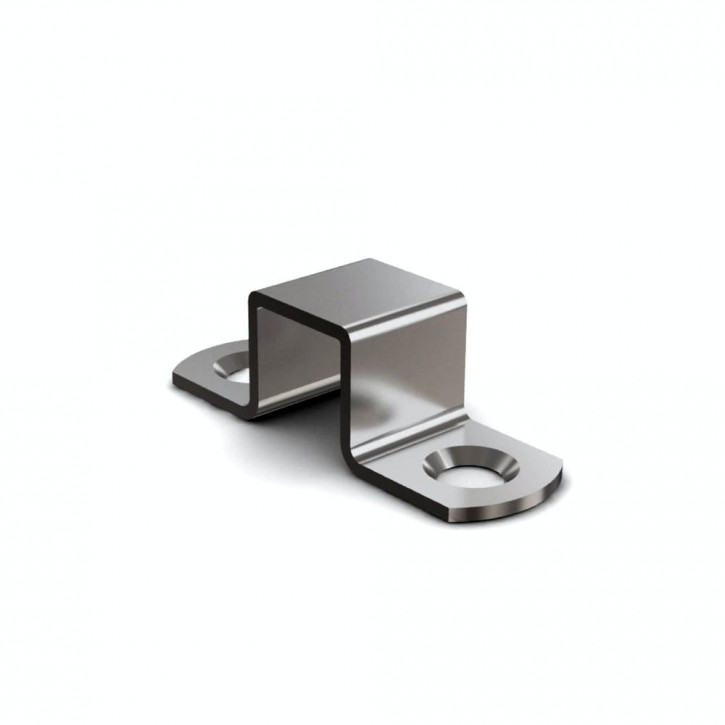 Schliessblech A=70mm für Riegel mit Rückstellfeder; Messing
