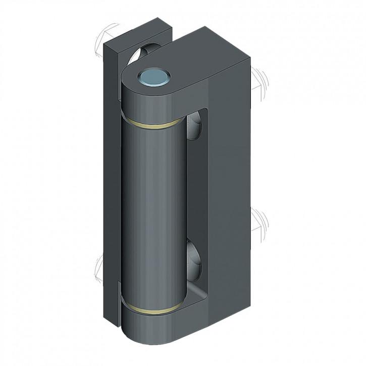 Scharnier Serie 1054; 25.5mm, Zamak® schwarz gepulvert