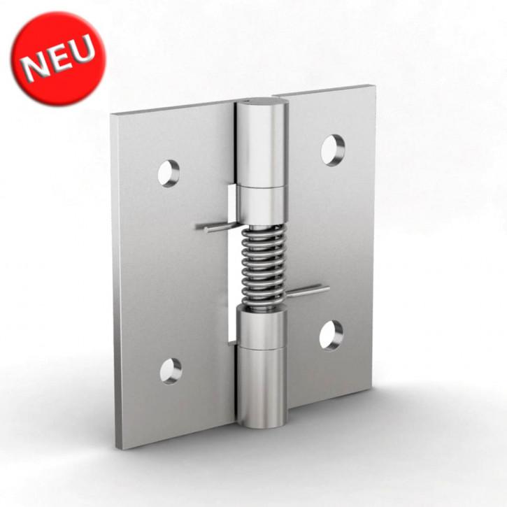 Federscharnier schliessend, 50x50x2 mm, gbohrt; Aluminium