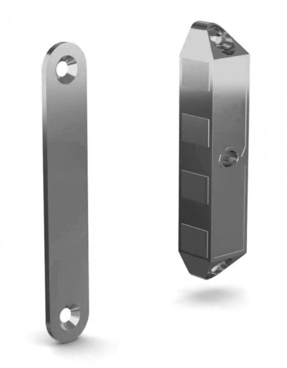 Verschraubbarer Magnetriegel mit Schliessblech, Kraft 8 kg; Zamak