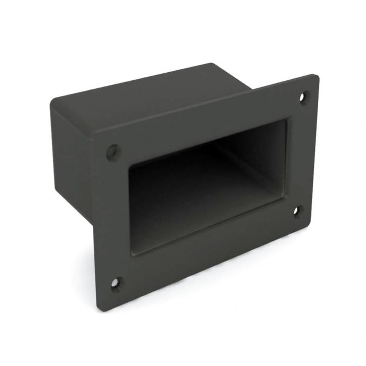 Versenkbarer Griff zum Verschrauben 131 x 79 mm; ABS schwarz