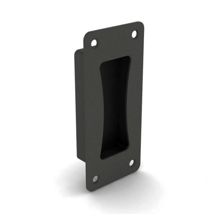 Versenkbarer Griff zum Verschrauben 133 x 60 mm; Polyamid schwarz