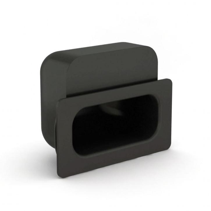 Versenkbarer Gummigriff zum Festklemmen 120 x 58 mm; Elastomer