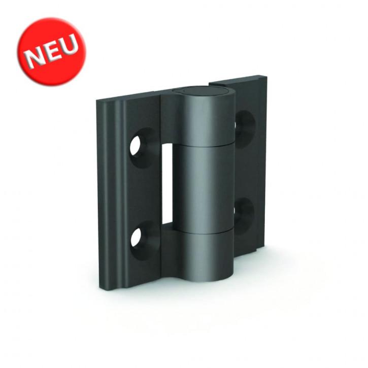 Kleines Aluminiumprofile-Scharnier 30x35x3.3 mm; Alu 6082 T5 sw