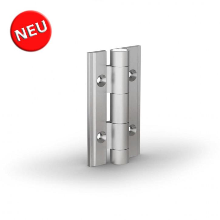 Aluminiumprofile-Scharnier 60x35x3.3 mm; Alu 6082 T5 farblos