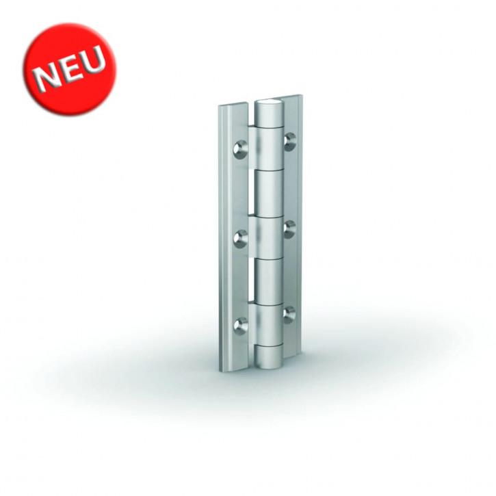 Aluminiumprofile-Scharnier 90x35x3.3 mm; Alu 6082 T5 farblos