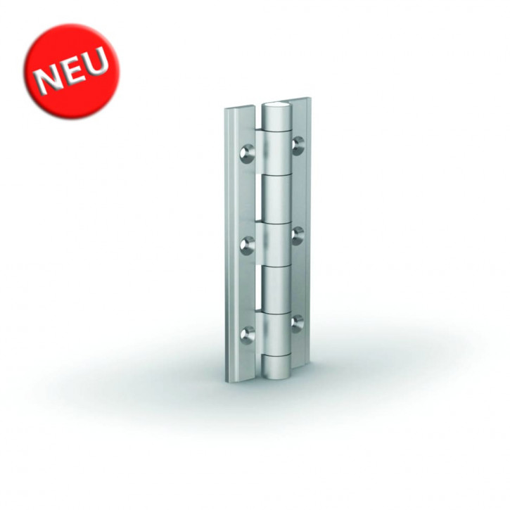Aluminiumprofile-Scharnier 90x35x3.3 mm; Alu 6082 T5 schwarz
