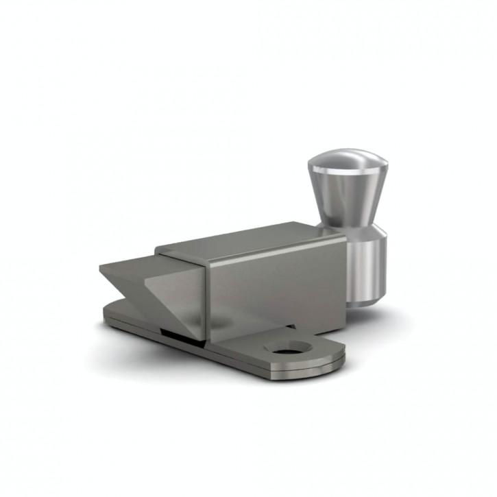 Riegel nach oben mit Rückstellfeder A=35mm; Stahl verzinkt