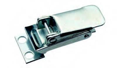 Spannverschluss mit Federblech und Zugfeder; Stahl verzinkt