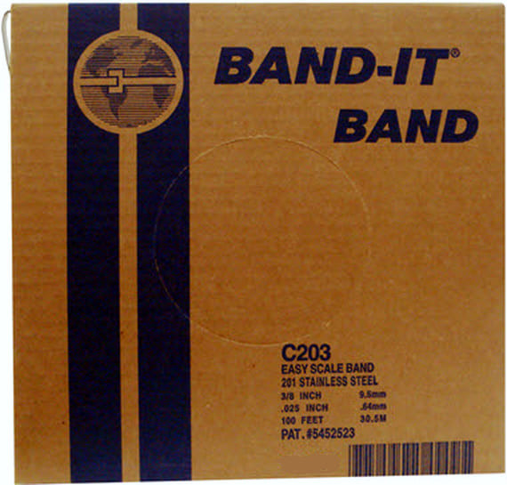 201 BAND-IT® Edelstahlband 15.9 x 0.76 mm; Edelstahl V2A
