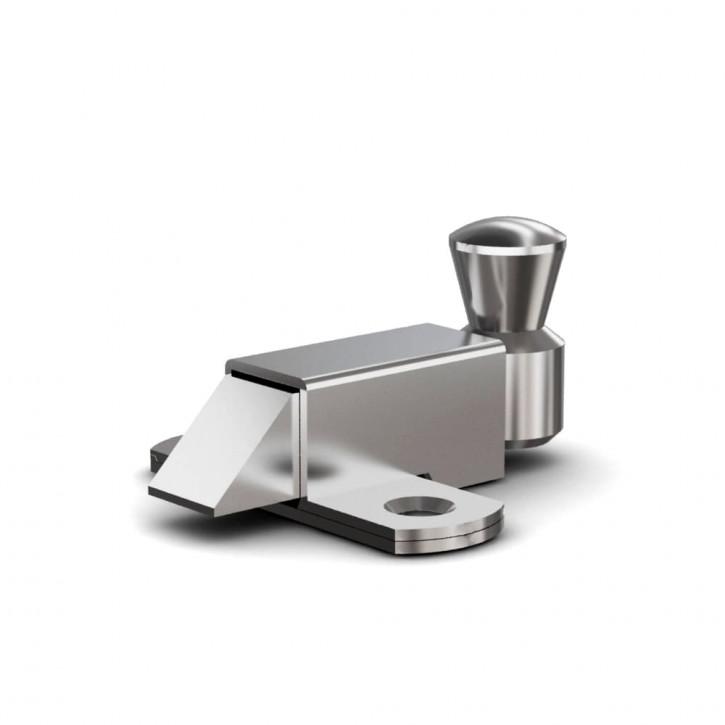Riegel nach unten mit Rückstellfeder A=35mm; Stahl verzinkt