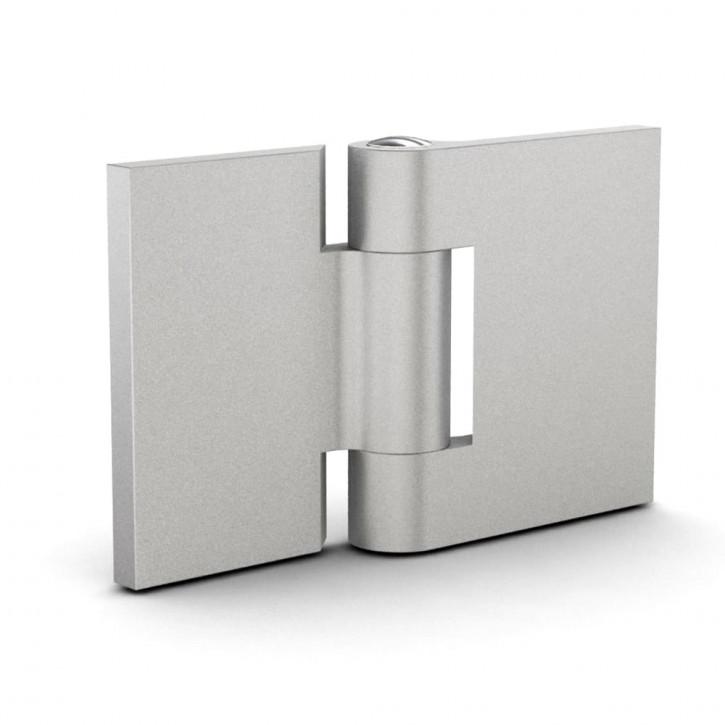 Scharnier mit versetzten Seiten 50x50x3 mm, ungebohrt; Aluminium