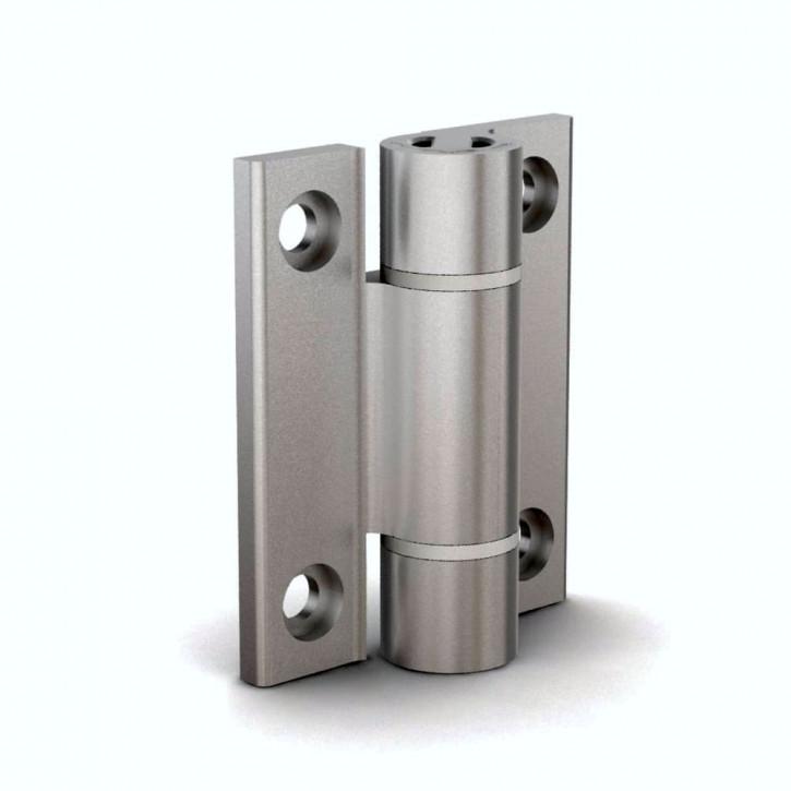 Aluminium-Spannfederscharnier öffnend, 67x55mm, 0.35 N.m