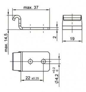 Serie V951L - Gegenhaken für Eckbefestigung; Stahl verzinkt