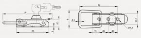 Spannverschluss mit Drahtbügel und Schloss; Stahl schwarz KTL